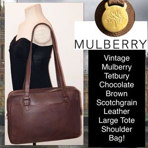 ed5e7d400ca Mulberry Bags | Vtg Tetbury Scotchgrain Leather Tote Bag | Poshmark